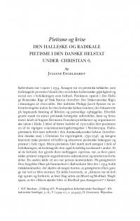 HT 2016:2, s. 281-308 - Juliane Engelhardt: Pietisme og krise. Den Halleske og radikale pietisme i den danske helstat under Christian 6.