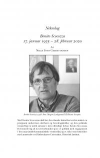 HT 2020:1, s. 214-218 - Niels Finn Christiansen: Benito Scocozza 17. januar 1935 – 28. februar 2020