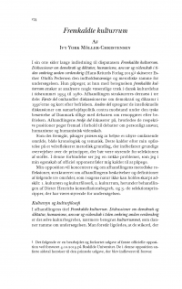 HT 2020:1, s. 174-194 - Ivy York Möller-Christensen: Fremkaldte kulturrum + Esther Oluffa Pedersen: Svar til Ivy York Möller-Christensen