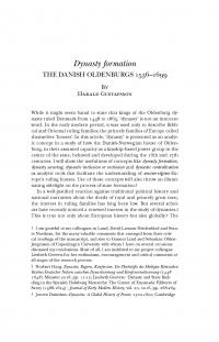 HT 2020:2, s. 345-406 - Harald Gustafsson: Dynasty formation. The Danish Oldenburgs 1536–1699