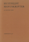 Huitfeldt Manuskripter