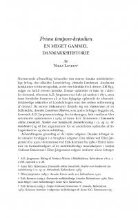 HT 2016:1, s. 1-30 - Niels Lindow: Primo tempore-krøniken. En meget gammel danmarkshistorie