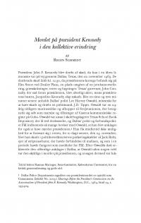 HT 2016:1, s. 97-132 - Regin Schmidt: Mordet på præsident Kennedy i den kollektive erindring