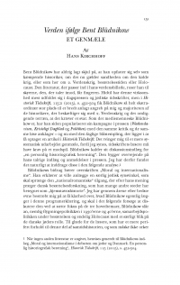 HT 2017:1, s. 151-192 - Hans Kirchhoff: Verden ifølge Bent Blüdnikow. Et genmæle