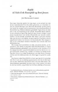 HT 2017:2, s. 496-498 - Jon Reinhardt-Larsen: Replik til Niels Erik Rosenfeldt og Bent Jensen