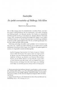 HT 2018:1, s. 113-126 - Krystyna Szelągowska: En polsk oversættelse af Holbergs Nils Klim