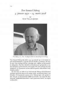 HT 2019:1, s. 224-228 - Kurt Villads Jensen: Tore Samuel Nyberg 4. januar 1931 – 14. marts 2018