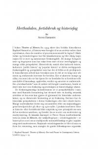 HT 2019:1, s. 59-84 - Anne Eriksen: Herthadalen, fortidsbruk og historiefag