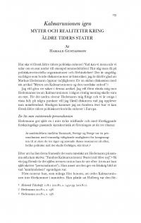 HT 2019:1, s. 175-184 - Harald Gustafsson: Kalmarunionen igen. Myter och realiteter kring äldre tiders stater
