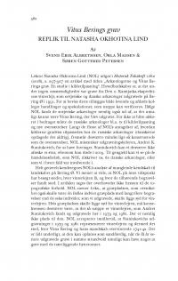 HT 2019:2, s. 582-610 - Svend Erik Albrethsen, Orla Madsen & Søren Gottfred Petersen: Vitus Berings grav. Replik til Natasha Okhotina Lind + Natasha Okhotina Lind: Duplik til arkæologerne.