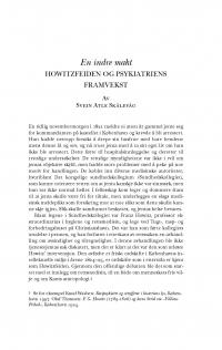 HT 2020:1, s. 47-78 - Svein Atle Skålevåg: En indre makt. Howitzfeiden og psykiatriens framvekst