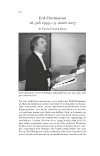 HT 2020:2, s. 558-564 - Peter Fibiger Bang: Erik Christiansen 16. juli 1939 – 5. marts 2017