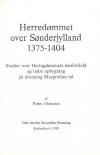 Herredømmet over Sønderjylland 1375-1404
