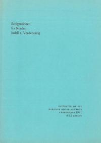 Emigration til Norden indtil I. Verdenskrig
